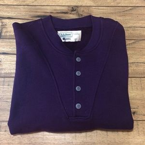 VTG LL Bean Russell Athletic Purple LS USA Large